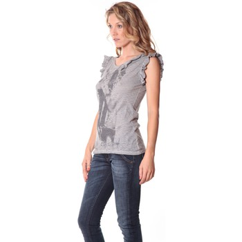 Textiel Dames Mouwloze tops Rich & Royal Rich&Royal Tee shirt Glam Gris 13q427/862 Grijs