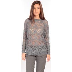 Textiel Dames T-shirts met lange mouwen Charlie Joe Top ZUCCA Gris Grijs
