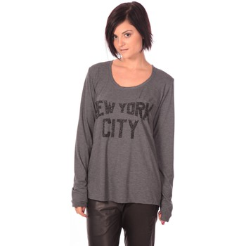 Textiel Dames T-shirts met lange mouwen Charlie Joe Top New York Grijs