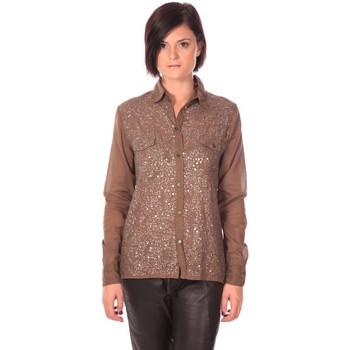 Textiel Dames Overhemden Charlie Joe Chemise Sonja Kaki Bruin