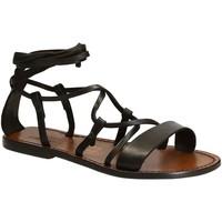 Schoenen Dames Sandalen / Open schoenen Gianluca - L'artigiano Del Cuoio 519 D MORO CUOIO Testa di Moro