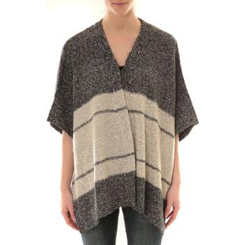 Textiel Dames Vesten / Cardigans Barcelona Moda Gilet YM21 Gris et Beige Grijs