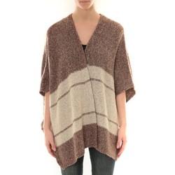 Textiel Dames Vesten / Cardigans Barcelona Moda Gilet YM21 Marron et Beige Bruin