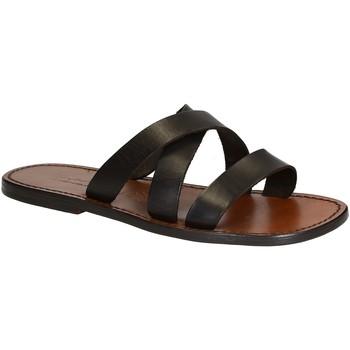 Schoenen Heren Leren slippers Gianluca - L'artigiano Del Cuoio 546 U MORO CUOIO Testa di Moro