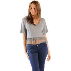 Textiel Dames T-shirts korte mouwen Gat Rimon TOP LYLY PLOMB Grijs