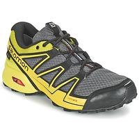 Schoenen Heren Running / trail Salomon SPEEDCROSS VARIO GTX® Grijs / Groen / Geel