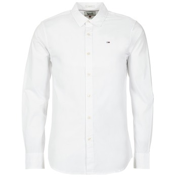 Textiel Heren Overhemden lange mouwen Tommy Jeans KANTERMI Wit
