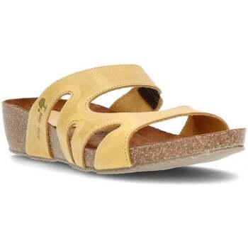 Schoenen Dames Leren slippers Interbios W MOSTAZA