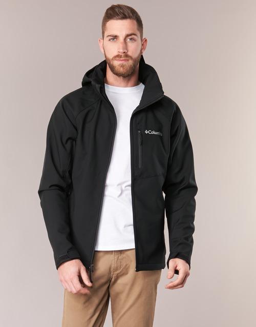 Textiel Heren Wind jackets Columbia CASCADE RIDGE II SOFTSHELL Zwart