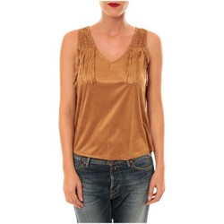 Textiel Dames T-shirts & Polo's Nina Rocca Top MC1998 camel Bruin