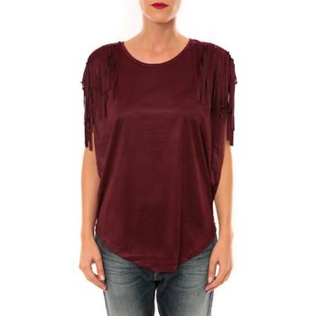 Textiel Dames Tops / Blousjes Nina Rocca Top C1844 bordeaux Rood