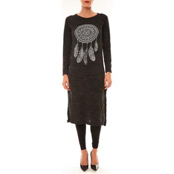 Textiel Dames Lange jurken By La Vitrine Robe Plume anthracite Grijs