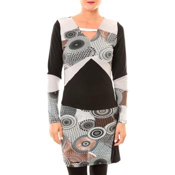 Textiel Dames Korte jurken Bamboo's Fashion Robe Cercle BW613 gris Zwart