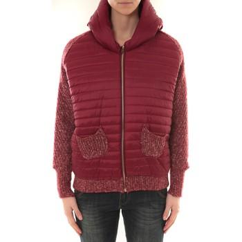 Textiel Dames Wind jackets Sweet Company Doudoune 1889 Bi matiére Bordeaux Rood