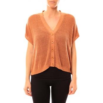 Textiel Dames Vesten / Cardigans American Vintage GILET TIN236 ROUILLE CHINE Oranje