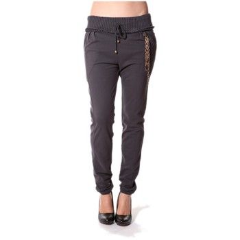 Textiel Dames Broeken / Pantalons Rich & Royal Rich&Royal Pantalon City sweet ANTHRACITE 13q915/876 Grijs