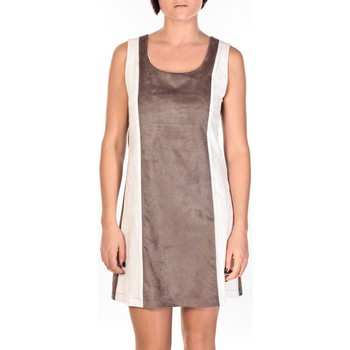 Textiel Dames Korte jurken Dress Code Robe Venetie blanc/marron Bruin