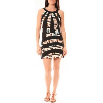 Textiel Dames Korte jurken Bamboo's Fashion Robe BA1532 Écru/Noir Zwart