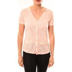 Textiel Dames Vesten / Cardigans Meisïe Top 50-608SP15 Corail Oranje