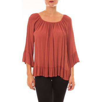 Textiel Dames Tops / Blousjes By La Vitrine Blouse Giulia brique Oranje