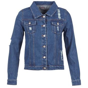 Textiel Dames Spijker jassen Yurban EJINILE Blauw / Donker