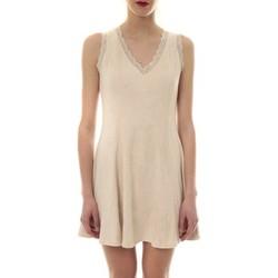 Textiel Dames Korte jurken Vera & Lucy Robe suedine Beige R 6229 Beige