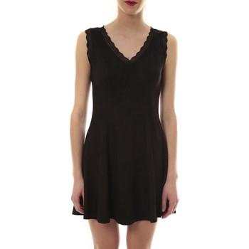 Textiel Dames Korte jurken Vera & Lucy Robe suedine Noir R 6229 Zwart