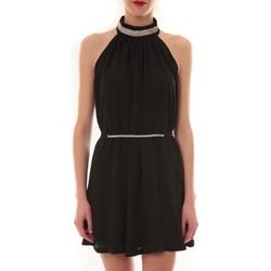 Textiel Dames Korte jurken Vera & Lucy Robe tour de cou col strass Noir 6W1078A Zwart