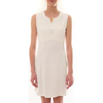 Textiel Dames Korte jurken Vera & Lucy Robe sans manches Blanc R6236 Wit