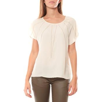 Textiel Dames T-shirts korte mouwen Vera & Lucy Top 2585 écru Beige