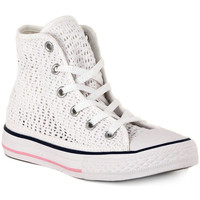 Schoenen Hoge sneakers Converse ALL STAR HI  TINY CROCHET Bianco