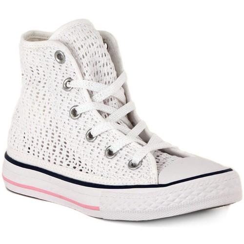 Schoenen Hoge sneakers Converse ALL STAR HI  TINY CROCHET Bianco