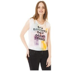 Textiel Dames T-shirts korte mouwen Little Marcel Tee-shirt Tilo Blanc Wit