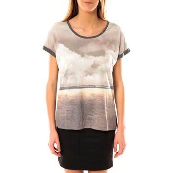 Textiel Dames T-shirts korte mouwen Vero Moda Cloud SS Top 10096122 Gris JAUNE Grijs