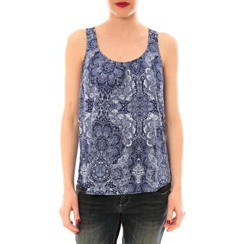 Textiel Dames Mouwloze tops Little Marcel Litlle Marcel Trevor Bleu Marine imprimé Blauw