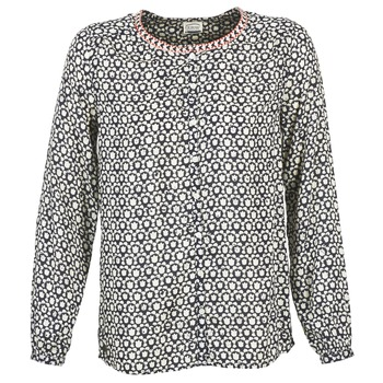 Textiel Dames Tops / Blousjes Oxbow CRAY Marine / Wit