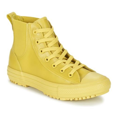 Schoenen Dames Hoge sneakers Converse CHUCK TAYLOR ALL STAR CHELSEA CAOUTCHOUC HI Geel / Citron