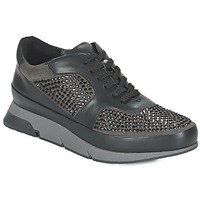Schoenen Dames Lage sneakers Luciano Barachini OXFORD Zwart / Grijs