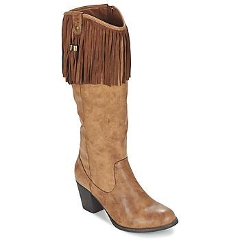 Schoenen Dames Hoge laarzen Refresh TRITOU Camel