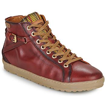 Schoenen Dames Hoge sneakers Pikolinos LAGOS 901 Rood