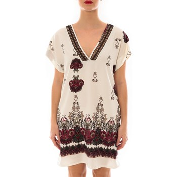 Textiel Dames Korte jurken Jad Robe Rina imprimée Blanc/Rouge Wit