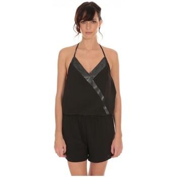 Textiel Dames Jumpsuites / Tuinbroeken LPB Woman Les Petites Bombes Combi Short Crepe  S160901 Zwart