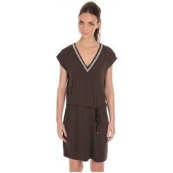 Textiel Dames Korte jurken LPB Woman Les Petites Bombes Robe Col V ouvert Dos Carbone S165301 Grijs