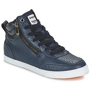 Schoenen Dames Hoge sneakers Superdry NANO ZIP HI TOP SNEAKER Blauw