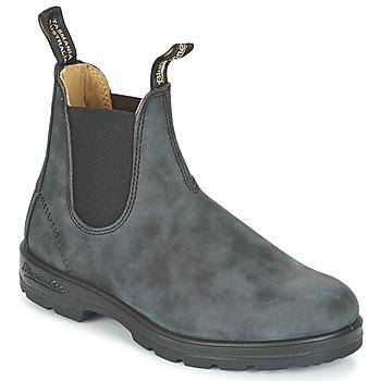 BLUNDSTONE Classic Rustic nubuck chelsea boots antraciet online kopen