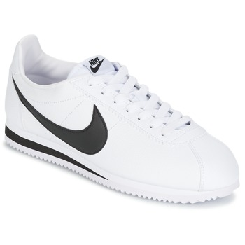 outlet store 6e22a 41b8a Schoenen Heren Lage sneakers Nike CLASSIC CORTEZ LEATHER Wit  Zwart