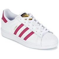 Schoenen Meisjes Lage sneakers adidas Originals SUPERSTAR FOUNDATIO Wit