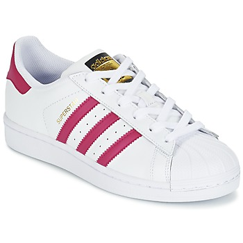 Schoenen Meisjes Lage sneakers adidas Originals SUPERSTAR FOUNDATIO Wit