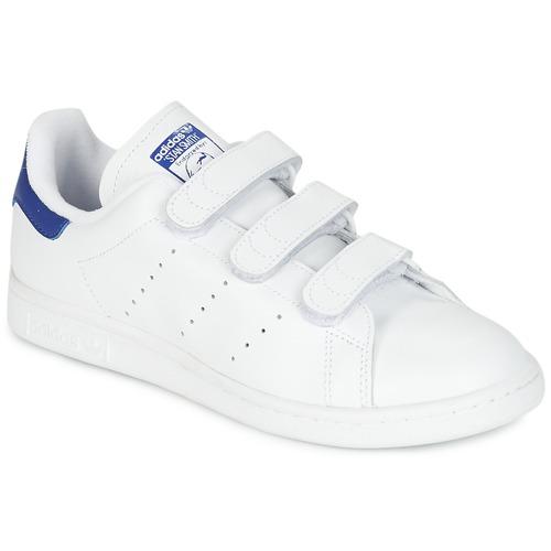 Schoenen Lage sneakers adidas Originals STAN SMITH CF Wit / Blauw