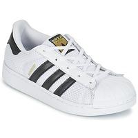 Schoenen Kinderen Lage sneakers adidas Originals SUPERSTAR EL C Wit